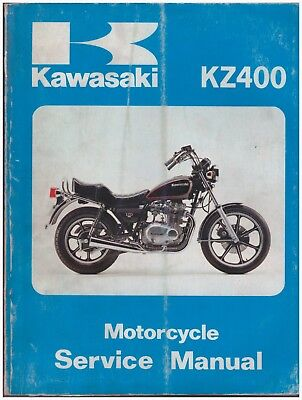 Manuale di Officina - Shop Service Manual - Kawasaki KZ400 LTD dal 1978 al 1981