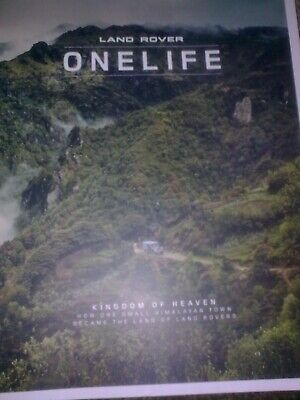 Latest Landrover Onelife Magazine Collectors Item New Above & Beyond-issue 37