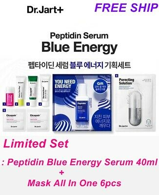 Limited [Dr.Jart+] Peptidin Blue Energy Serum 40ml+Mask All In One 6pcs Set BEST