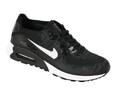 online store a4a20 06c67 NIKE Women s Air Max 90 Ultra 2.0 Flyknit sz 7.5 Black White Gray Running  Run