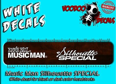 Music Man Silhouette Special (ALL WHITE) Waterslide Headstock Decal