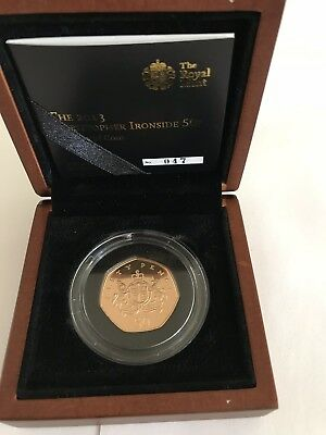 christopher ironside 2013 50p gold proof