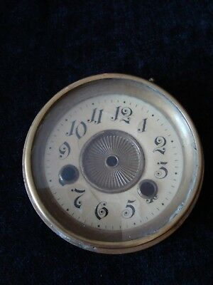 Antique Mantel Clock Dial & Hinged Glass Face