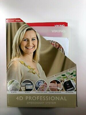 HUSQVARNA VIKING 4D Professional Embroidery Books Manuals Software NO DONGLE