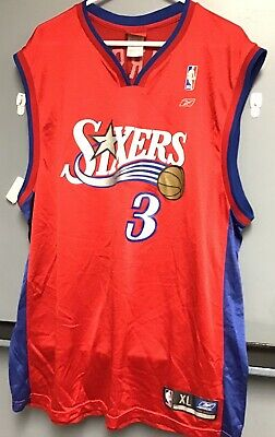 quality design 3ab68 2354f ALLEN IVERSON JERSEY ~Reebok~ NBA Philadelphia Sixers 76ers Red Men's Size  XL