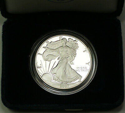2007-W Proof American Silver Eagle $1 Coin ASE 1 Troy Oz .999 with COA and OGP