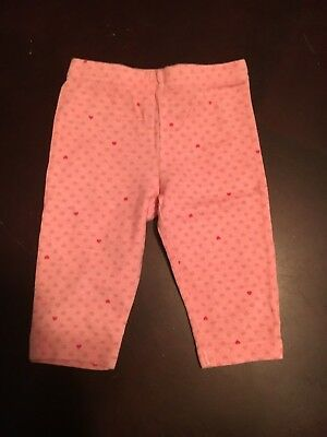Girls' Clothing (newborn-5t) Baby & Toddler Clothing Magic Years Girls Pink Pants With Heart Print Size 6 Months