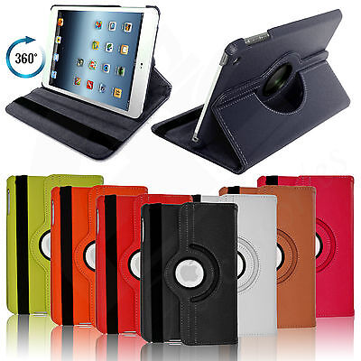 Leather 360 Degree Rotating Smart Case Stand Cover For All Apple Ipad Model