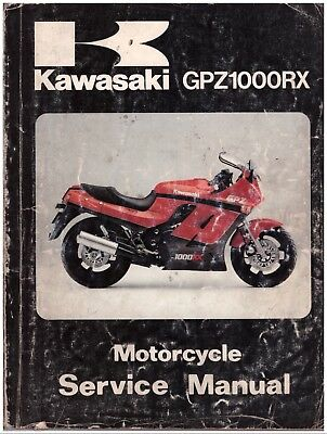Manuale di Officina in inglese - Service Manual - Kawasaki GPZ1000RX 1985