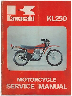Manuale di Officina in inglese - Shop Service Manual - Kawasaki KL250 1977
