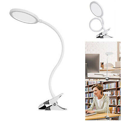 5W Dimmable Flexible USB Clip-On Desk LED Table Reading Study Book Lamp Light