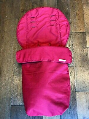 Mamas and Papas Universal Cosy Toes Footmuff for buggy pushchair cherry red