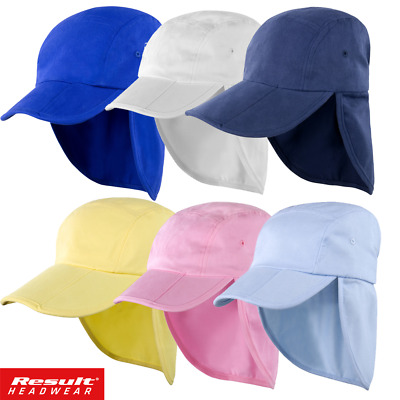 Result LEGIONNAIRE HAT KIDS BOY BEACH CAP SUN PROTECTION NECK EARS COVER FOLD UP