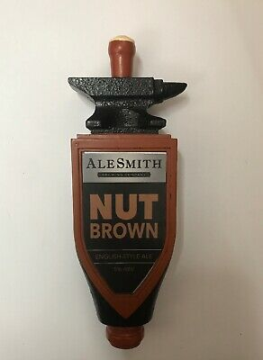 ALE SMITH Nut Brown Brewing Company FIGURAL BEER TAP HANDLE