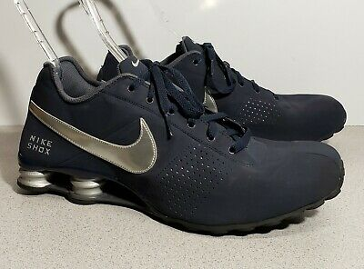 san francisco b382d fccea Nike Shox DELIVER 317547-400 Mens 13 Obsidian Navy Blue Silver Suede Classic