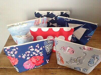 Joblot Wholesale 6 X Large Handmade Make Up Bags Cath Kidston Fabrics And Other