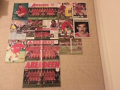 SHOOT Football Magazine Aberdeen Team Group & Player Posters Pictures