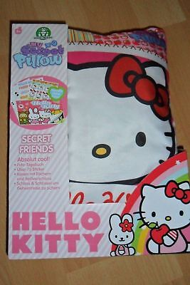 Hello Kitty My Secret Pillow Tagebuch-Kissen mit Schloss-Stickers etc.