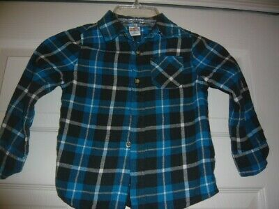 83b462ff0 Healthtex Toddler Boy's L/S Button Up Flannel Shirt Plaid Pre-owned 4T Blue