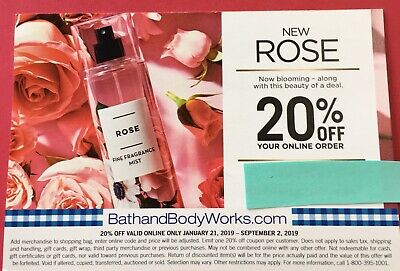 Bath and Body Works 20% Coupon Off Online Order