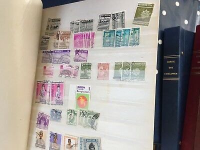 China India Japan Indonesia Philippines etc stamps hoard in stock book full
