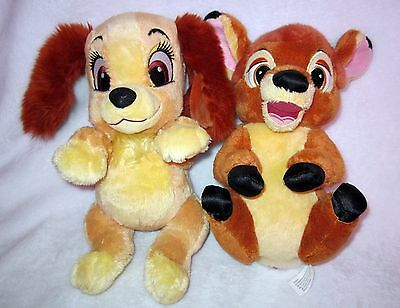Disney Parks Exclusive BABIES Plush Bambi Deer & Lady and the Tramp Puppy Dog