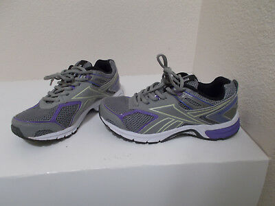 Women s Reebok Quickchase Gray Blue Purple Athletic Running Shoes Size 6.5  Wide 10acf99bb