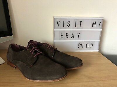 Size 12 Ted Baker Brown Suede Lace Up Mens Shoes