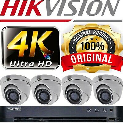 Hikvision Cctv Ultra Hd 4K 5Mp In Outdoor Night Vision Home Security Bundle Uk