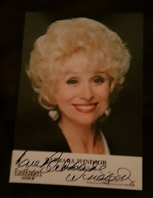 """Barbara Windsor autograph 6 x 4"""" Eastenders, Carry on actress"""