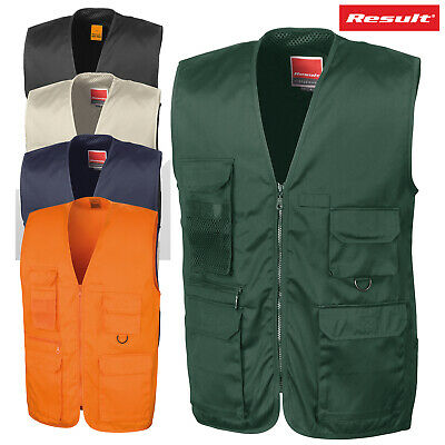 Result Work-Guard Adventure Multi Cargo Pocket Adult Gilet Outdoor Waistcoat New