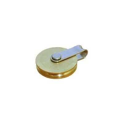 Wire rope single block with fixed eye brass sheave 35mm BARTON