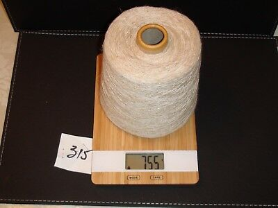 Knitting Machine Yarn On Cone 1 Ply Viscose Linen Fawn 755G (315)
