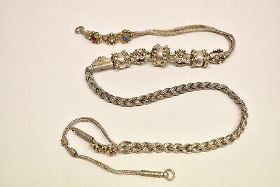 Antique Ottoman Turkish Bulgarian Silver Kyustek Pocket Watch Adornment Chain
