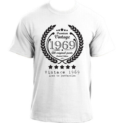 Premium Vintage 1969 Aged to Perfection Limited Edition Birthday Present Mens...