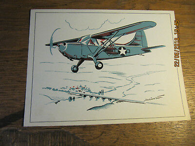 "Plaquette du STINSON L-5 ""SENTINEL"" - fiche technique de l'aviation"