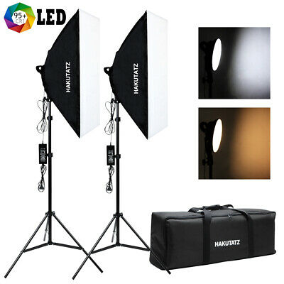 LED Softbox Kit Eclairage Lumiere pour Video Photo Studio 90W Bi-Color