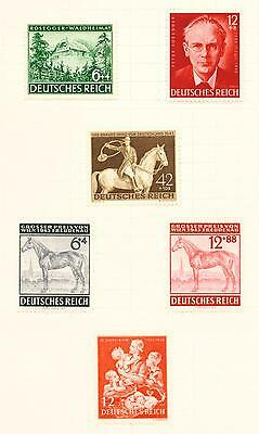 Germany WW2 Third Reich scenes stamps collection page 1943 MLH