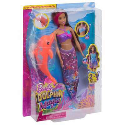 Barbie Dolphin Magic Transforming Mermaid Doll & Accessories Toy Girls Gift Play