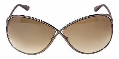 8c9799de45 Tom Ford Miranda FT 0130 495 36F Bronze Gradient Butterfly Lens Sunglasses
