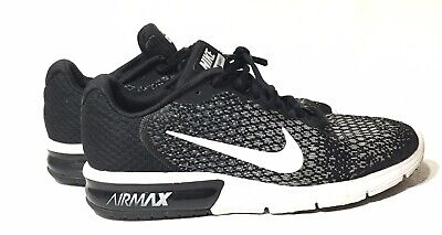 new arrival a8e9b 66b52 Nike Air Max Sequent 2 Mens 852461-005 Black   White Running Shoes Size 11