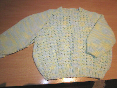 Girl's Hand Knitted Baby Jumper  Size 00  New Without Tags