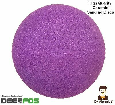 125mm Wet or Dry Ceramic Sanding Discs Film 5 inch Sandpaper Pad Grit 40-220 NEW
