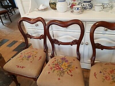 4 x Antique french dining chairs