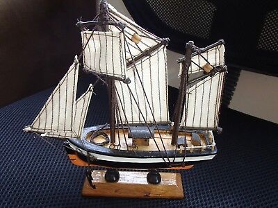 Handcrafted Wooden Sail Boat Model