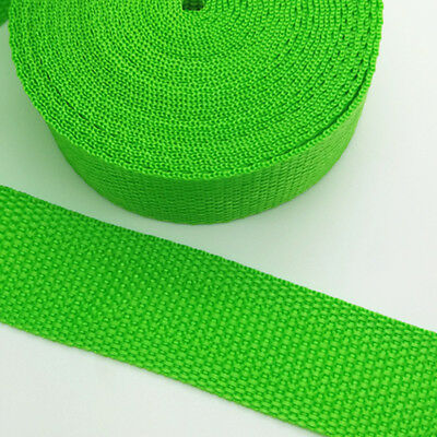 New 5 Yards Length 1 Inch (25mm) Width Sewing Nylon Webbing Strapping Sea green