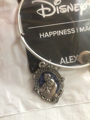 Disney Parks Exclusive Villains Ursula Silver Bangle Bracelet by Alex & Ani NEW