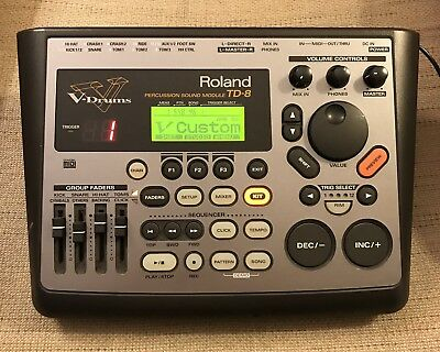 Roland TD-8 Electronic V-Drum Module Brain w/Mount & A/C Power Adapter TD 8