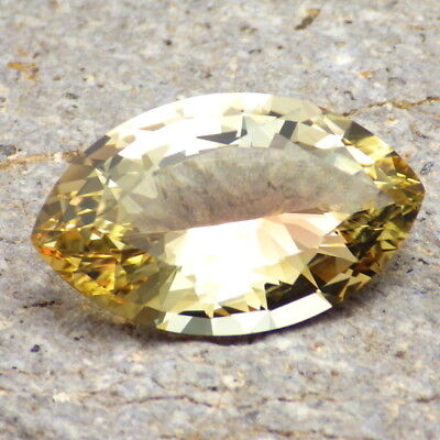 YELLOW-PINK OREGON SUNSTONE 13.31Ct FLAWLESS-LARGE-TOP QUALITY FROM PANA MINE