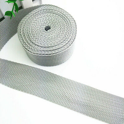 New 5 Yards Length 1 Inch (25mm) Width Sewing Nylon Webbing Strapping Light gray